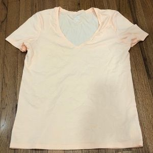 Old Navy Peach/Orange V-Neck Relaxed Tee